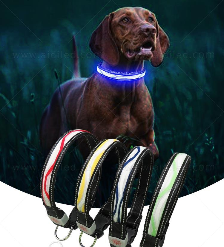 AIDI-Find Light Up Dog Collar Rechargeable Led Nylon Dog Collar-2