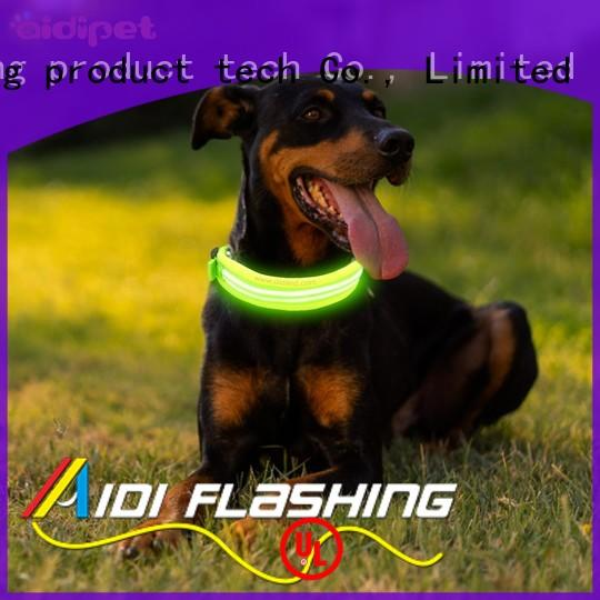 dog collars lighted for walking AIDI