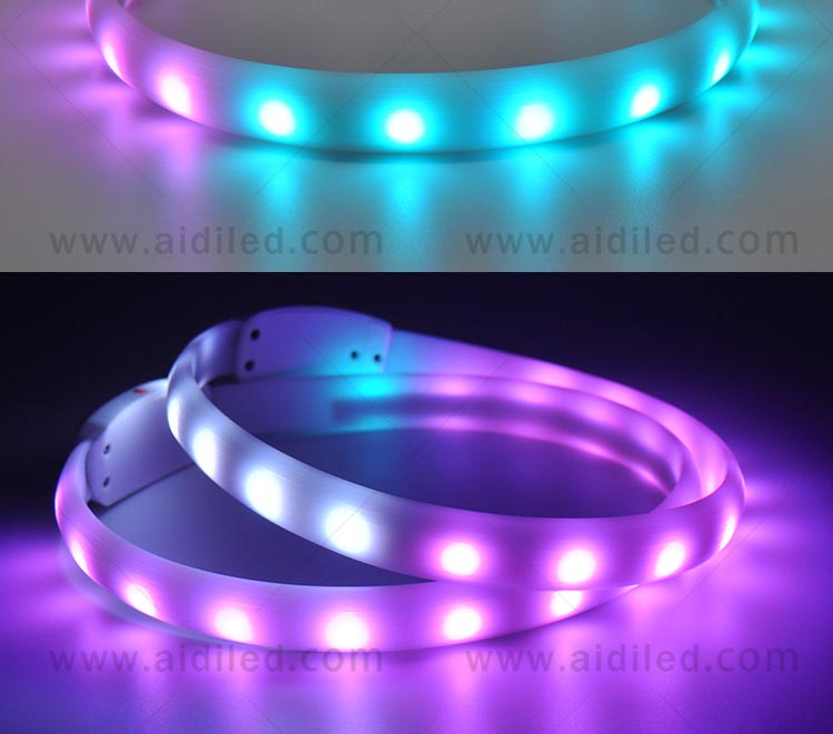 AIDI-Led Light Up Dog Collar, Fish Filament Rechargeable Led Dog Leash-4