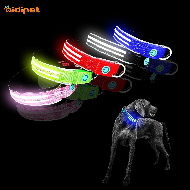 durable night dog collar design for park-2
