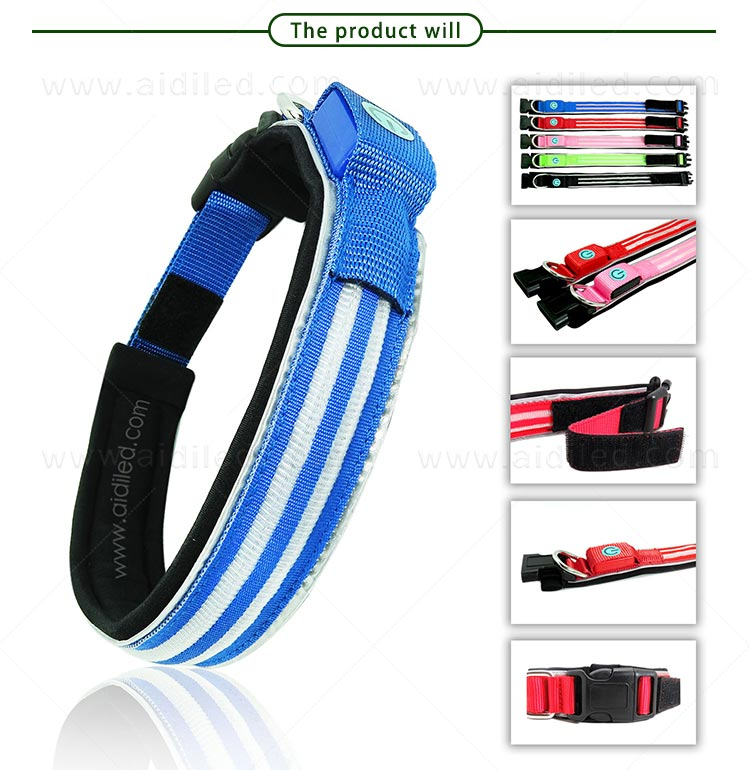 AIDI remote led flashing dog collar design for walking-6