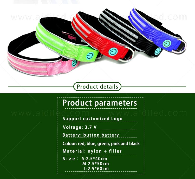 filament flashing dog collar inquire now for park-7