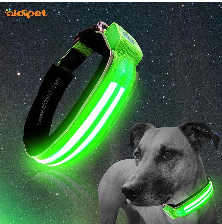 AIDI remote led flashing dog collar design for walking-10