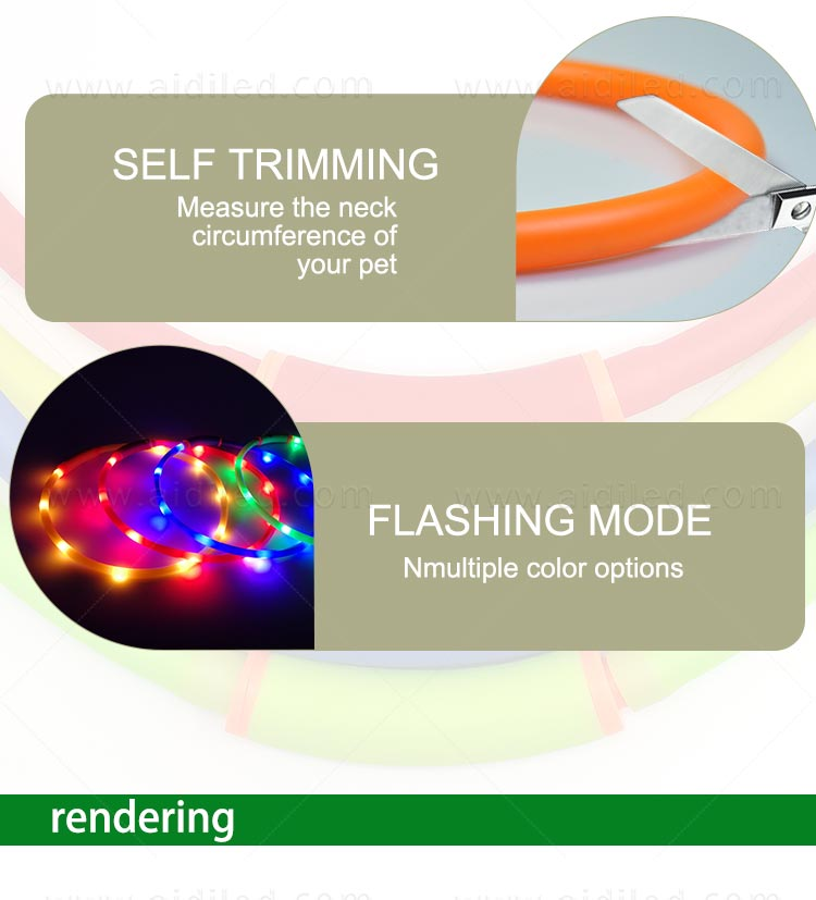 AIDI-High-quality Waterproof Light Up Dog Collar | Rechargeable Pet Collar-9