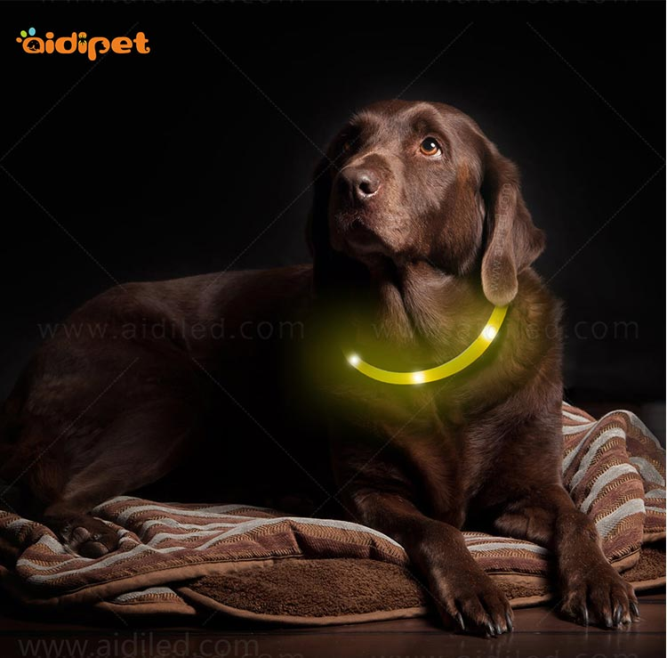 AIDI-High-quality Waterproof Light Up Dog Collar | Rechargeable Pet Collar-13