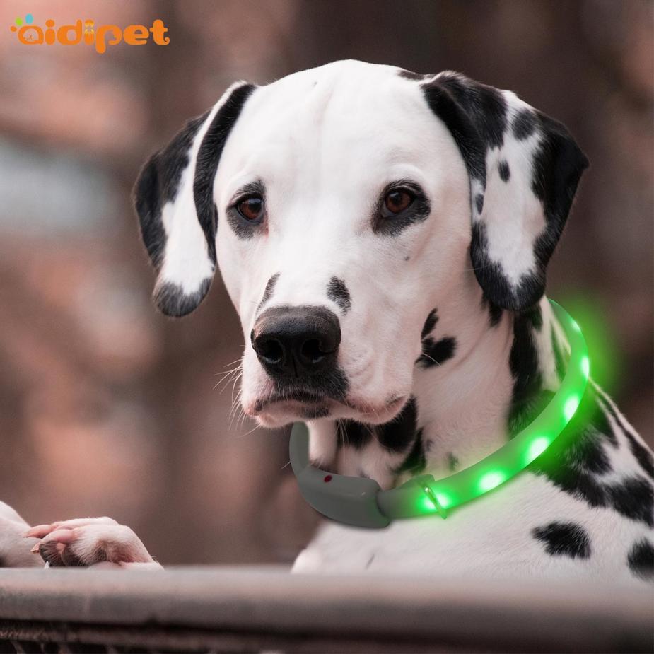 led RGB durable flashing dog collar light AIDI-C7S