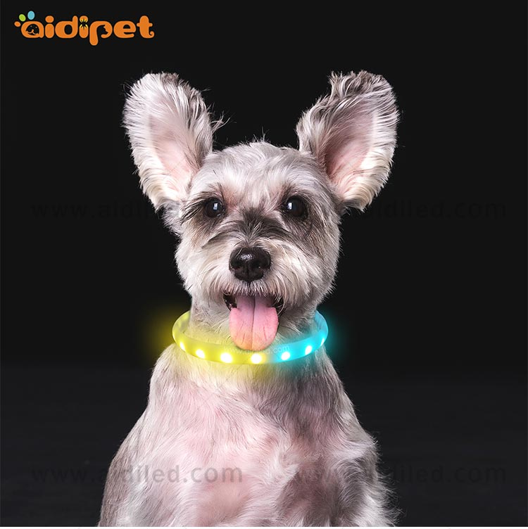 AIDI-Best Night Dog Collar Nylon Fish Filament Rechargeable-12