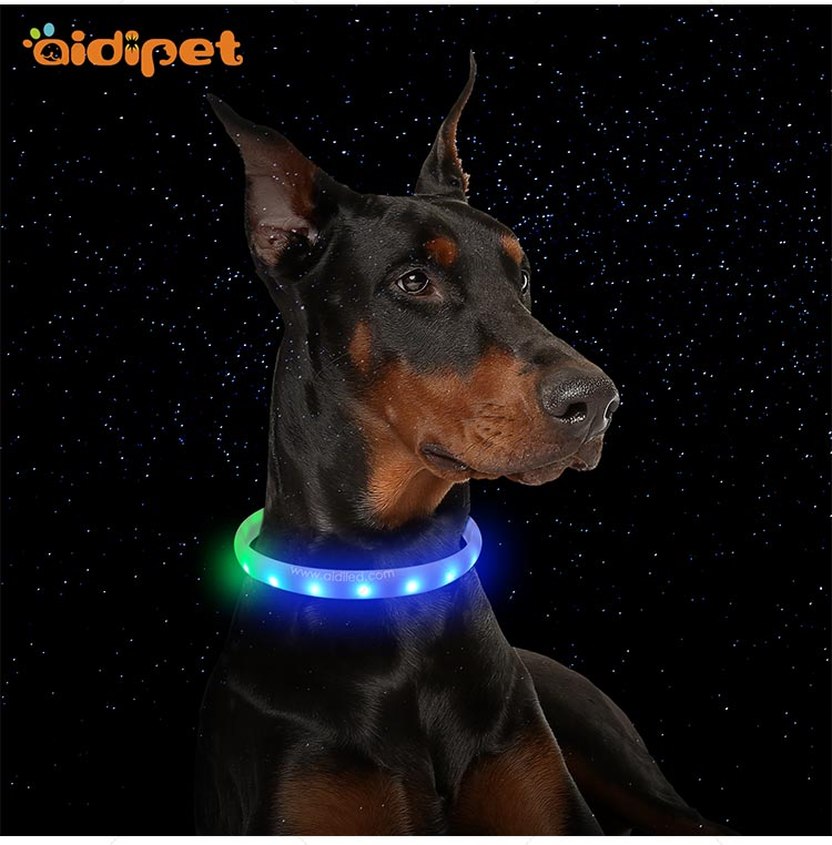 AIDI-Best Night Dog Collar Nylon Fish Filament Rechargeable-13