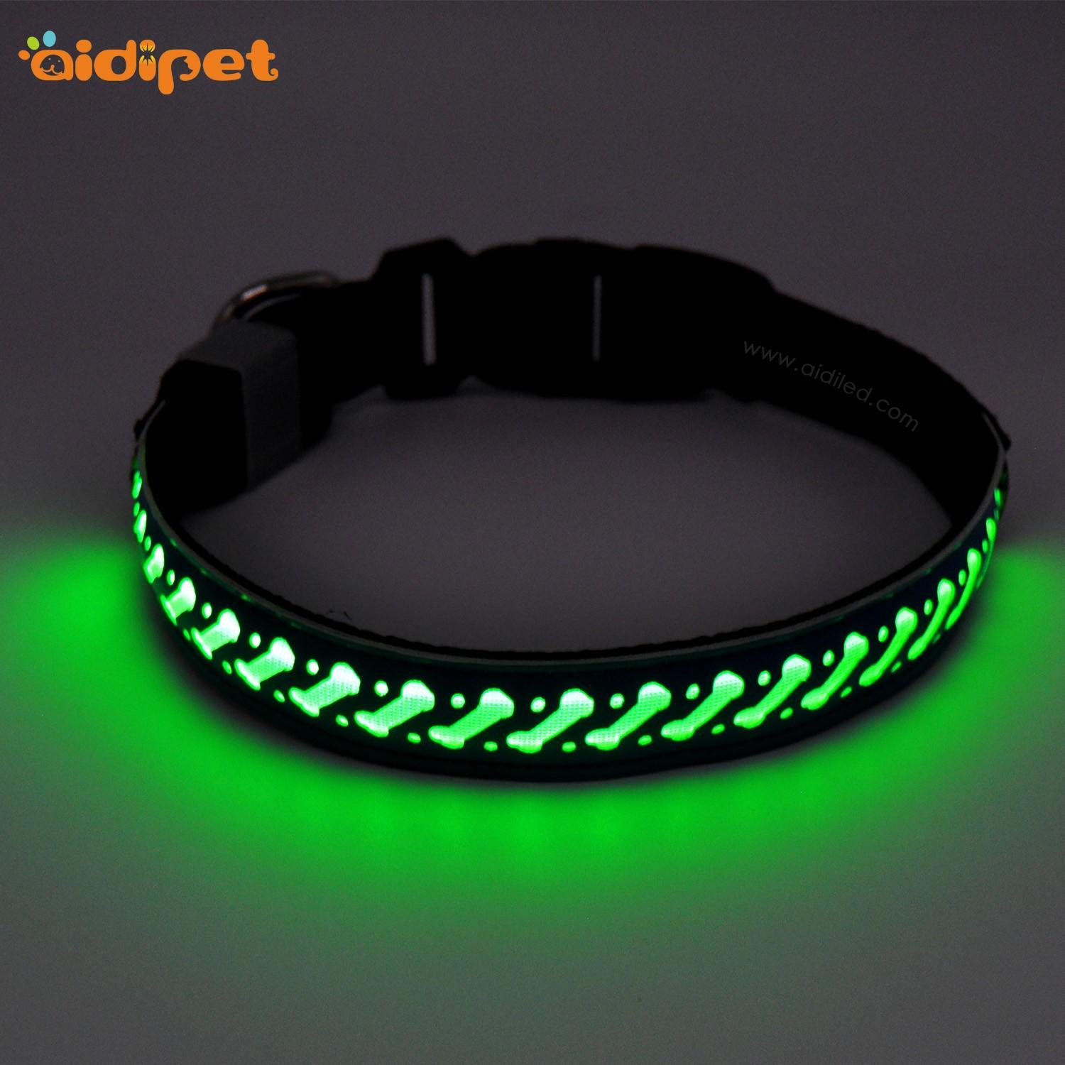 rechargeable led flashing dog collar design for park