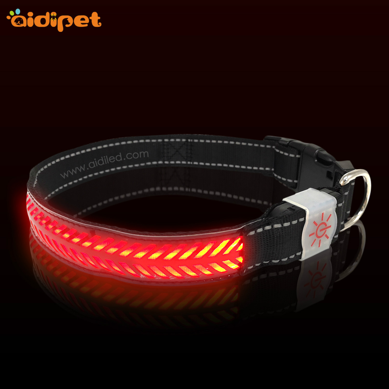 AIDI-Professional Rechargeable Lighted Dog Collars Light Up Dog Collars-7