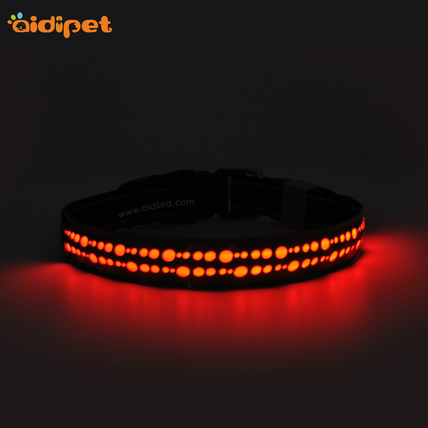 rechargeable led flashing dog collar design for park-9