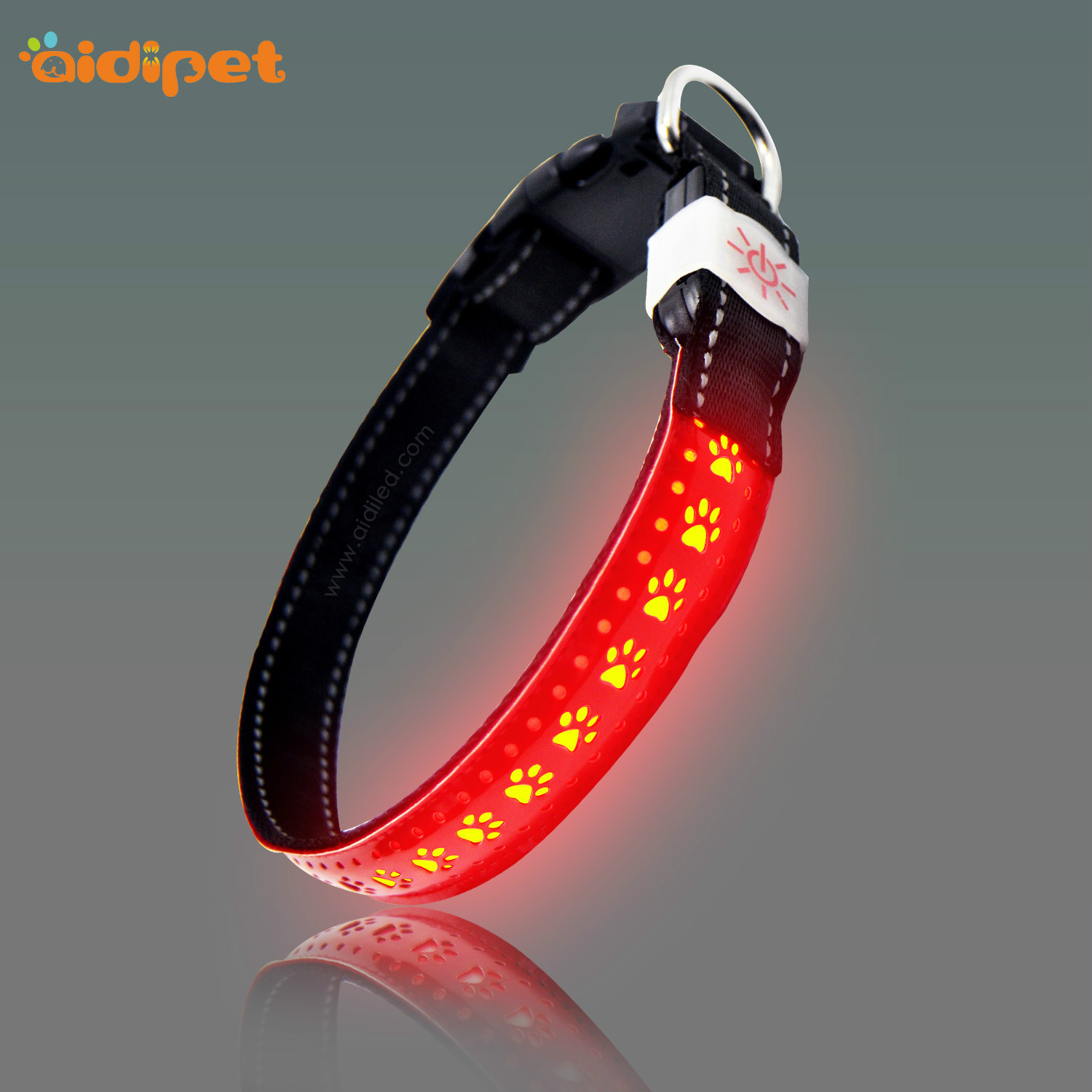 rechargeable led flashing dog collar design for park-10