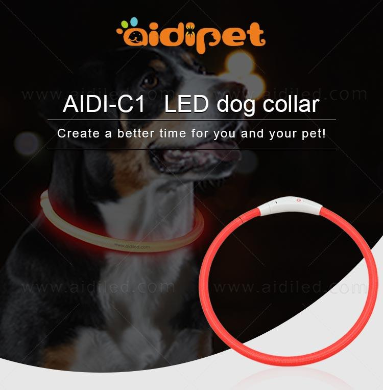 nylon led dog collars design for walking