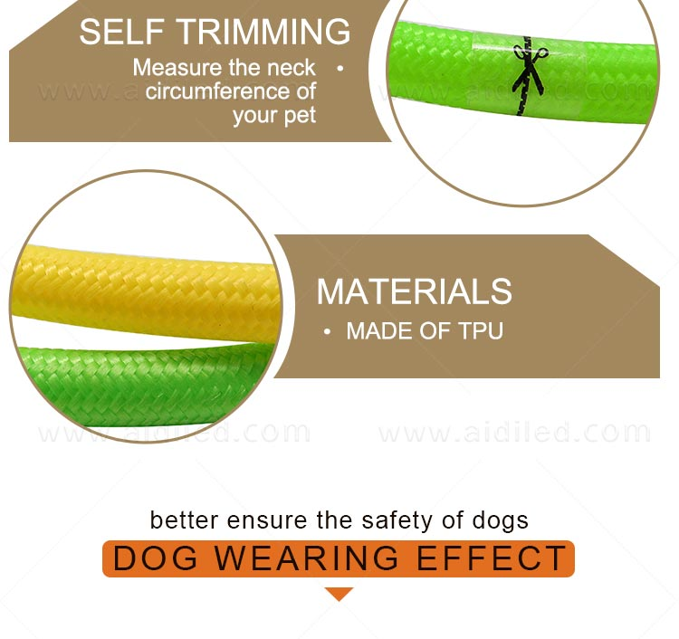 nylon led dog collars design for walking-9