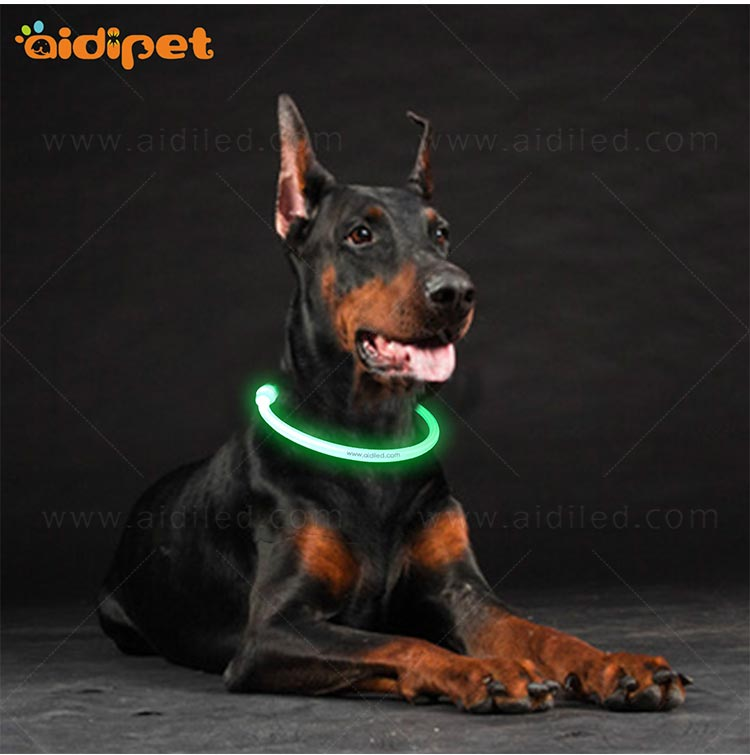 nylon led dog collars design for walking-11