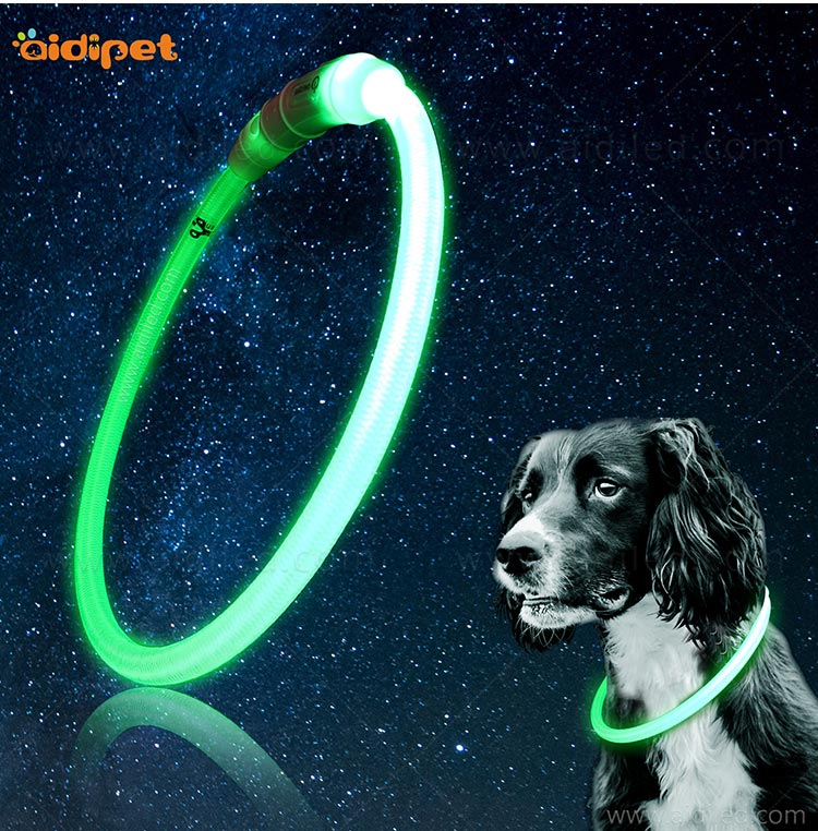 nylon led dog collars design for walking-12