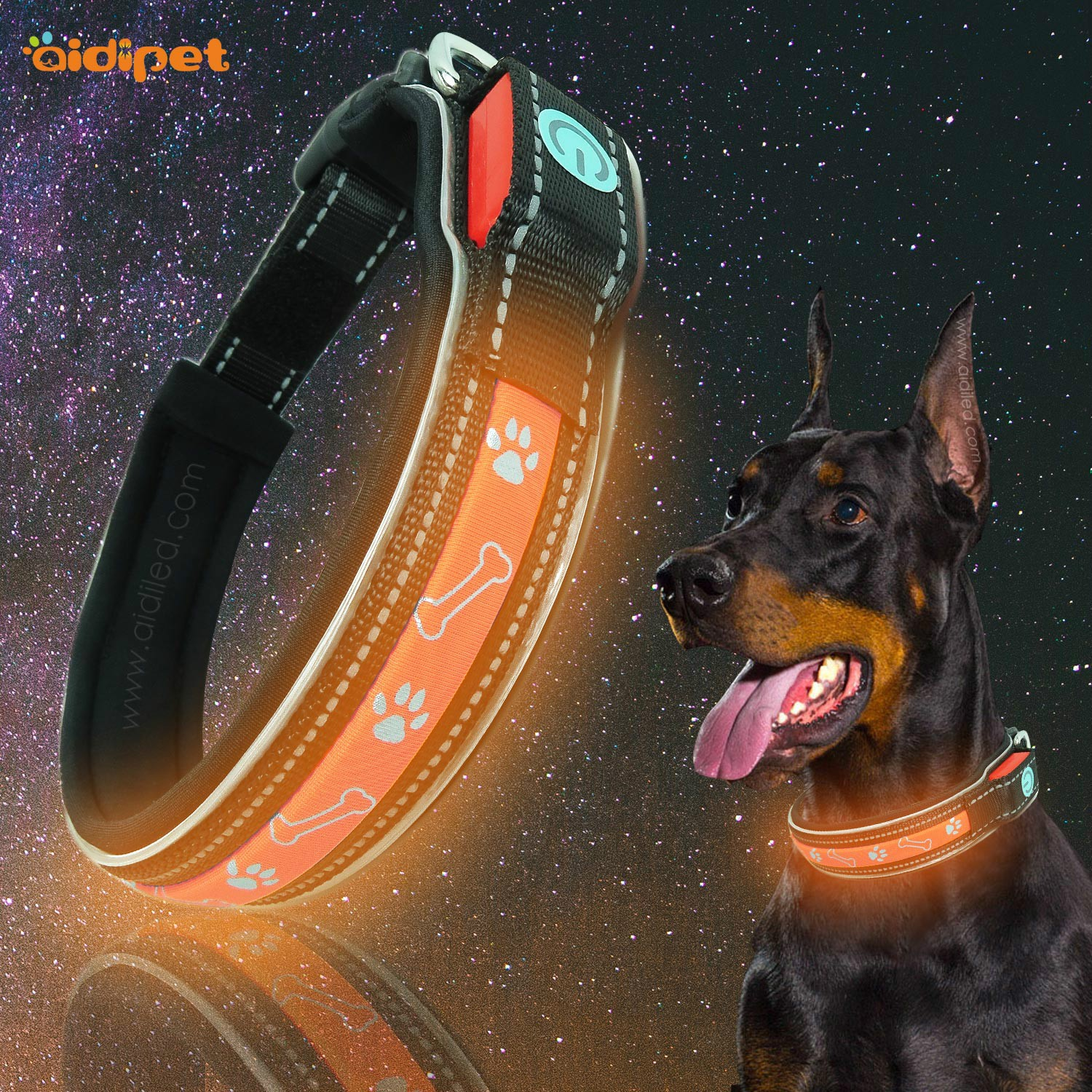AIDI-High-quality Best Dog Collar Light | Glowing Dog Collar-1