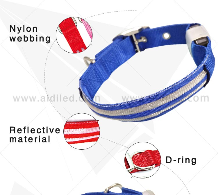 lite up dog collars for outdoors AIDI-8