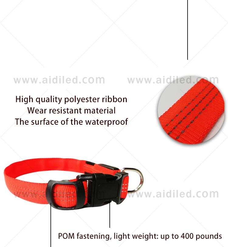 AIDI filament light up dog collar rechargeable factory for pet-6