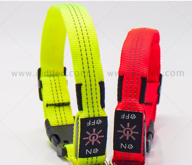 AIDI filament light up dog collar rechargeable factory for pet-8