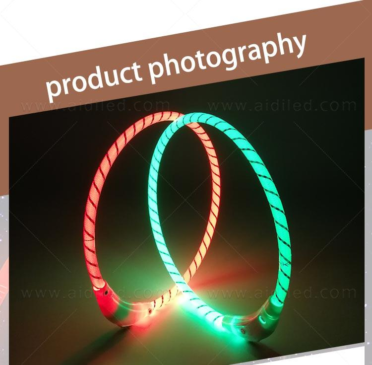 AIDI filament led dog collar waterproof design for pet