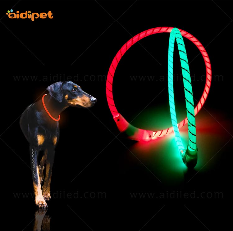 AIDI filament led dog collar waterproof design for pet-11