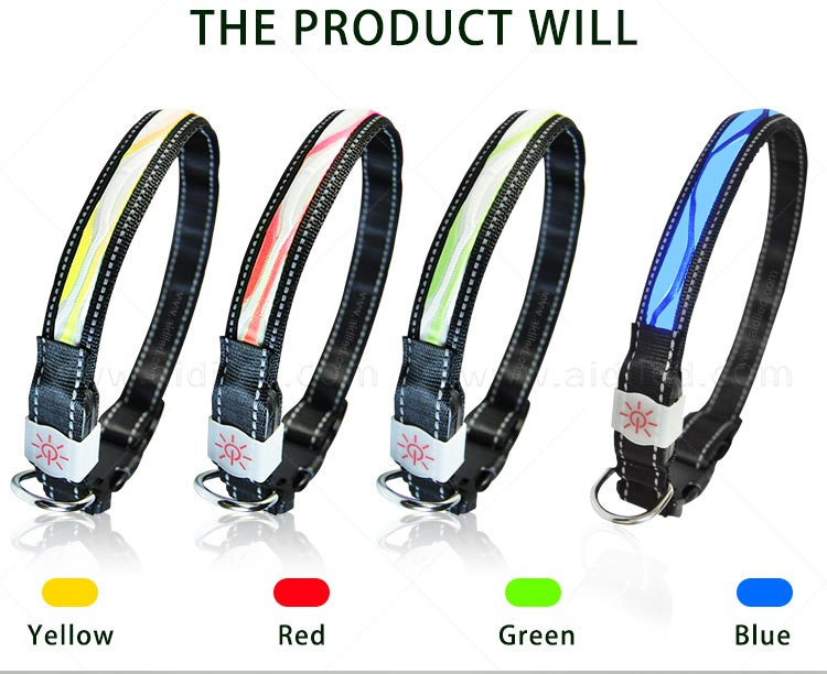 AIDI-Find Light Up Dog Collar Rechargeable Led Nylon Dog Collar-6