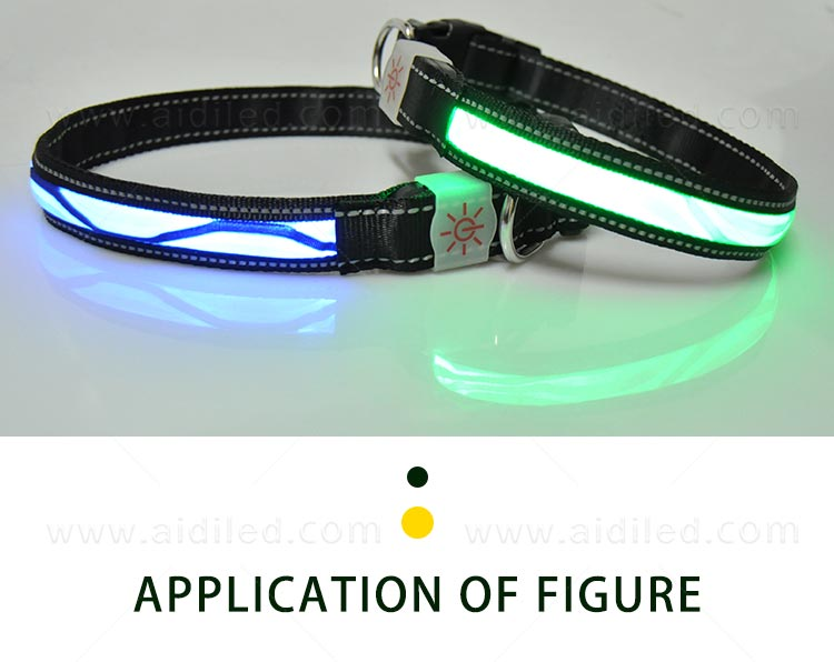 AIDI-Find Light Up Dog Collar Rechargeable Led Nylon Dog Collar-7
