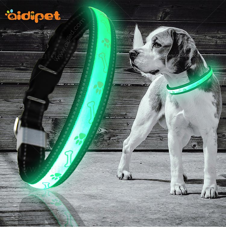 AIDI nylon waterproof light up dog collar factory for pet-3