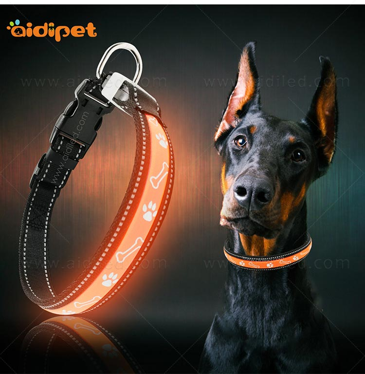 AIDI nylon waterproof light up dog collar factory for pet-10