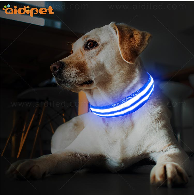 AIDI-C15 Personalized USB Rechargeable LED Dog Collar-9