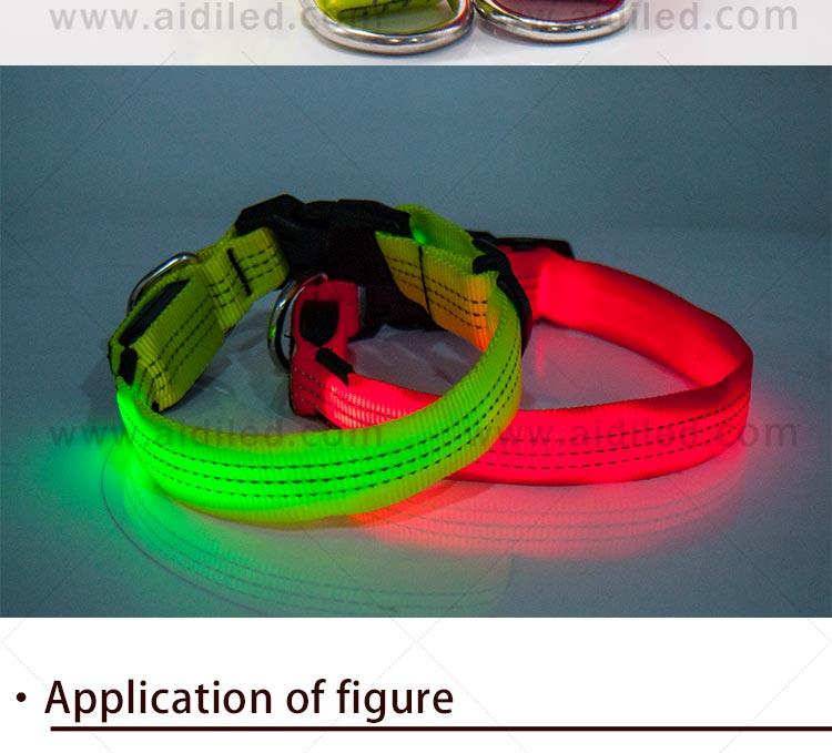 AIDI flashing rechargeable dog collar light inquire now for park