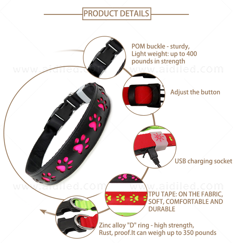 AIDI flashing dog collar design for outdoors-6