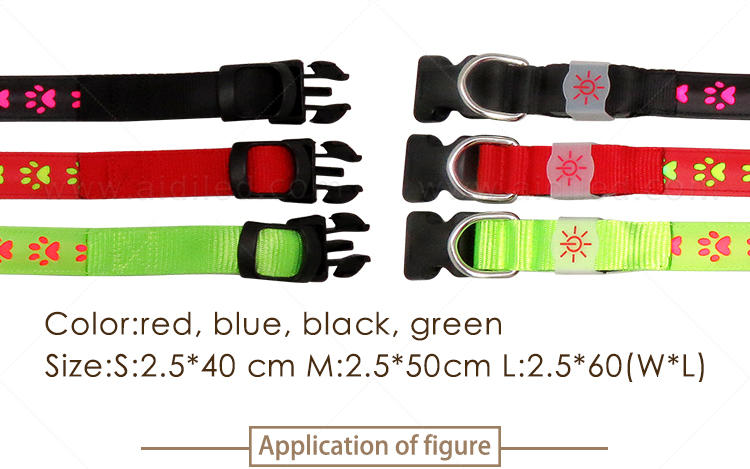AIDI flashing dog collar design for outdoors