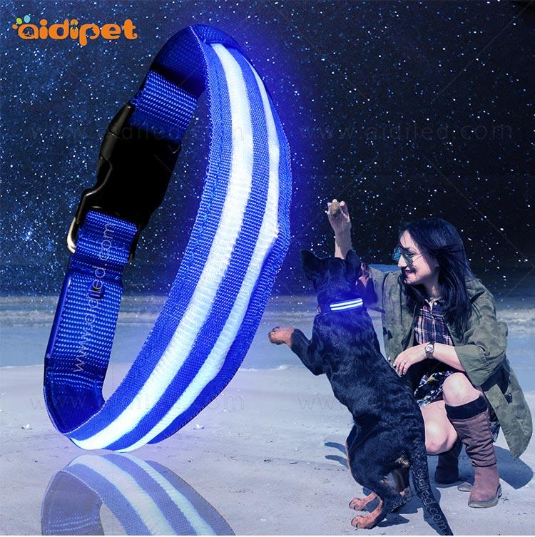 AIDI-C16 Custom Super Bright LED Light Up Dog Collar