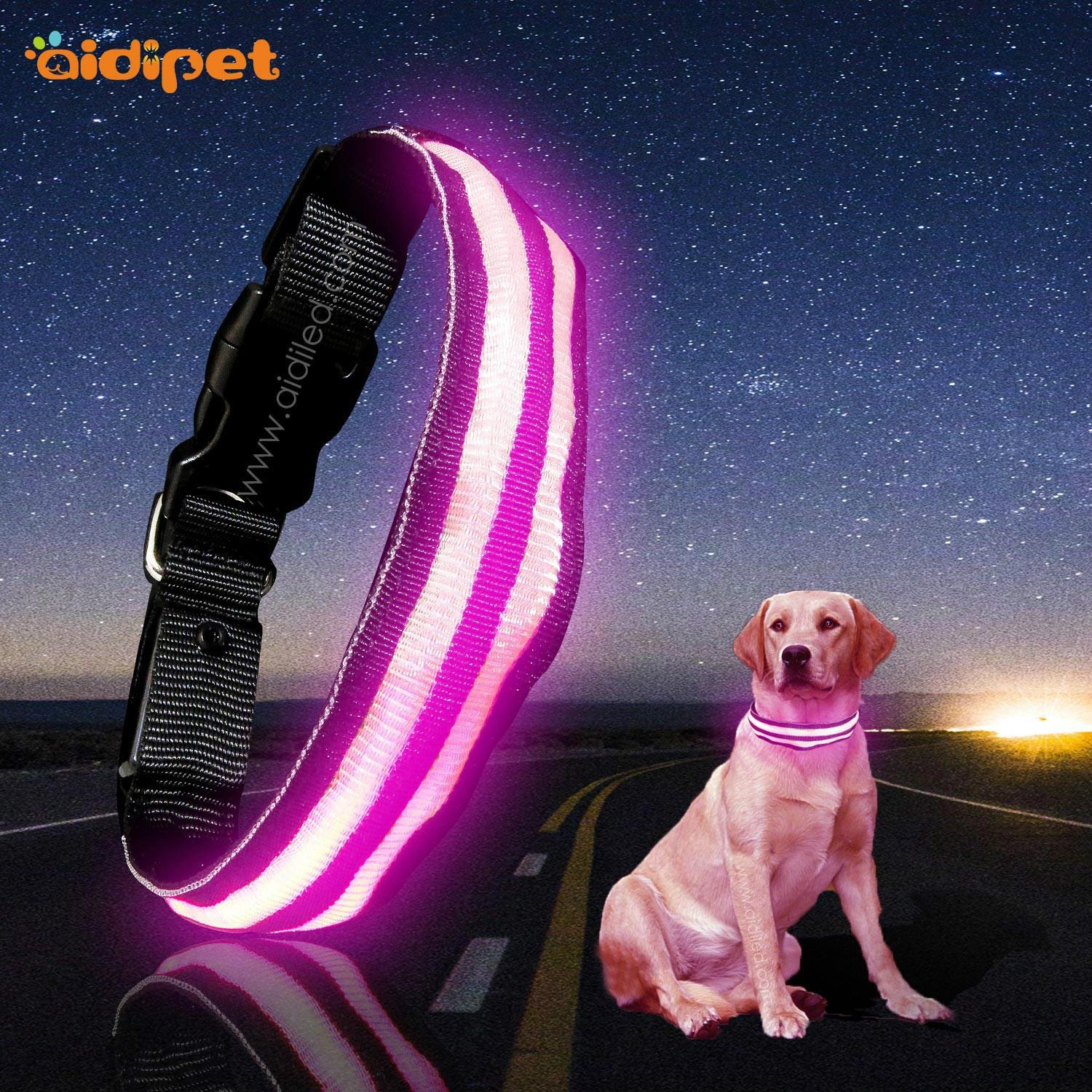 AIDI glow in the dark dog collar factory for outdoors