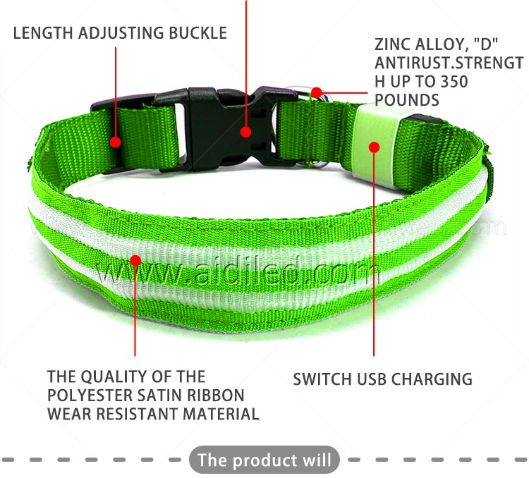 AIDI-High-quality Flashing Dog Collar | Custom LED Dog Collar-4
