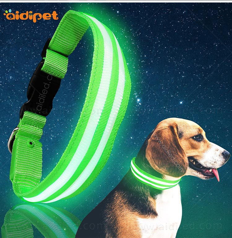 AIDI glow in the dark dog collar factory for outdoors-9