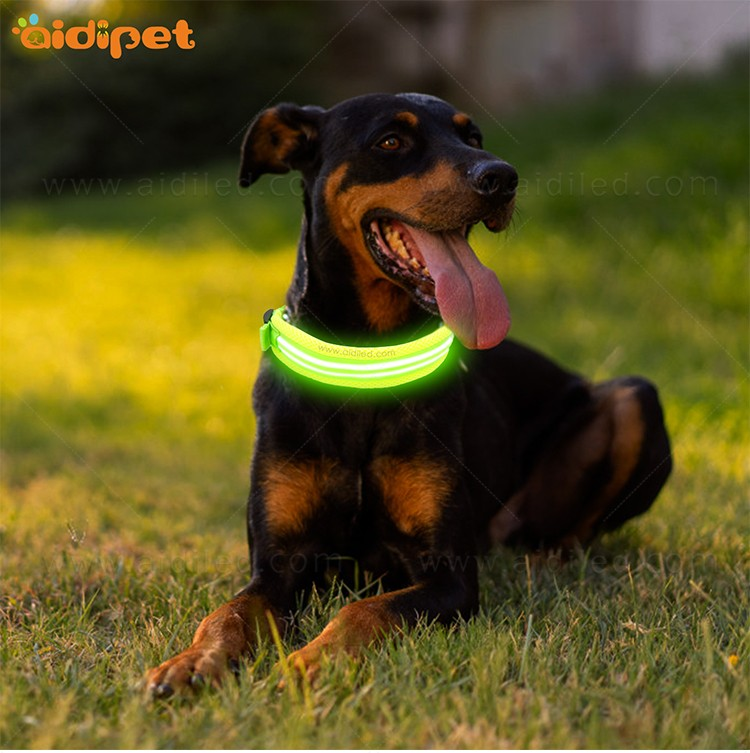 AIDI silicone dog collar led flashing light with good price for pet-3