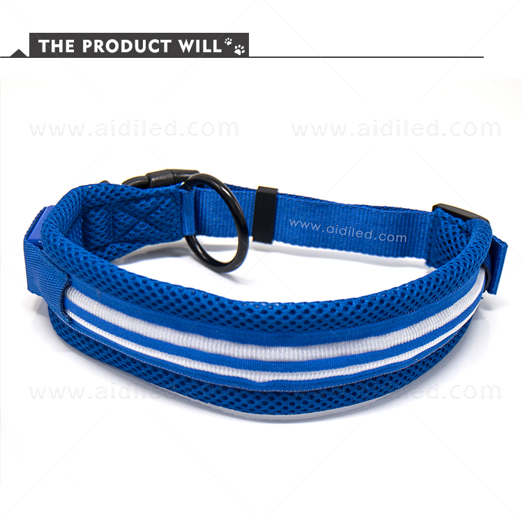AIDI silicone dog collar led flashing light with good price for pet-4