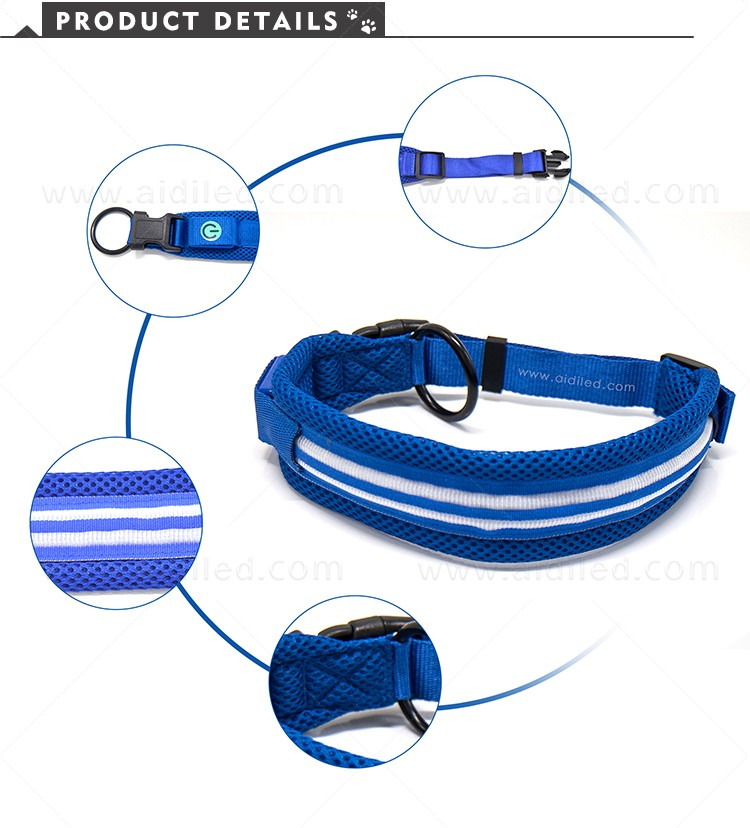 AIDI silicone dog collar led flashing light with good price for pet-5