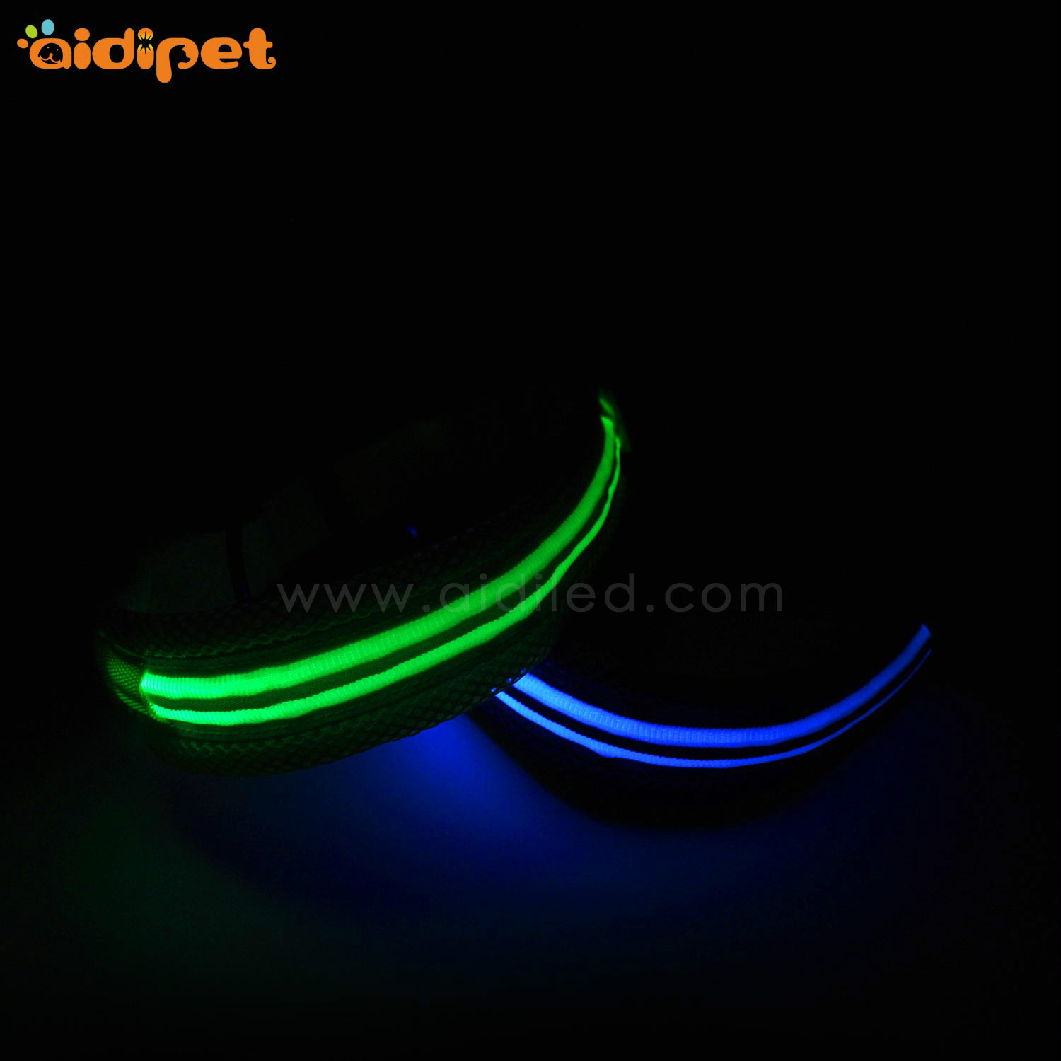 AIDI silicone dog collar led flashing light with good price for pet-8