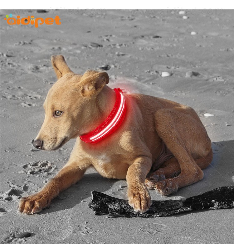 AIDI silicone dog collar led flashing light with good price for pet-10