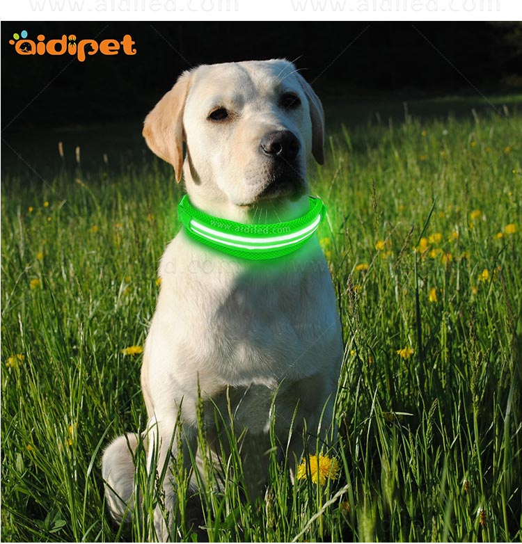 AIDI silicone dog collar led flashing light with good price for pet-12