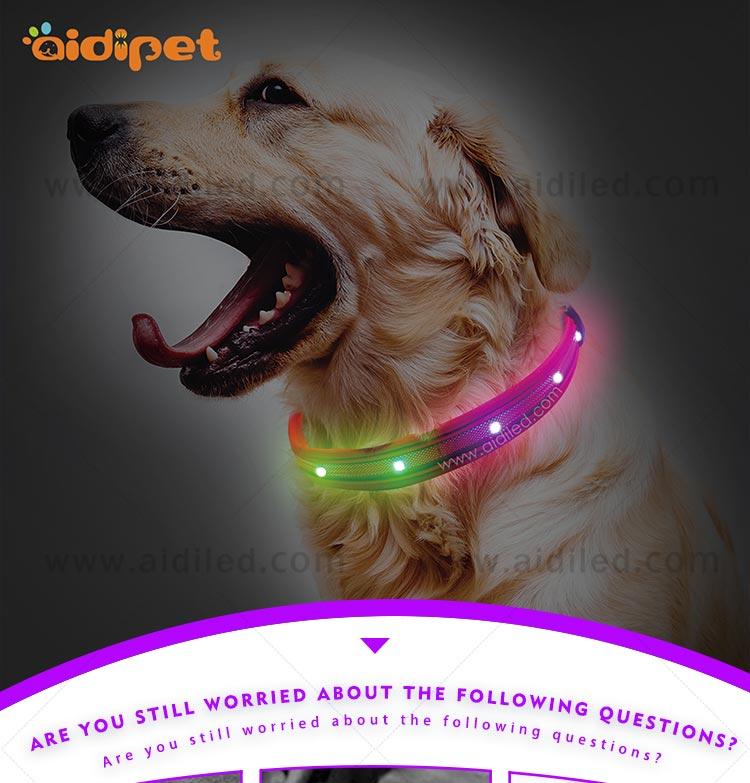 AIDI-Dog Collar Led Flashing Light Manufacture | Led Nylon Dog Collar-2