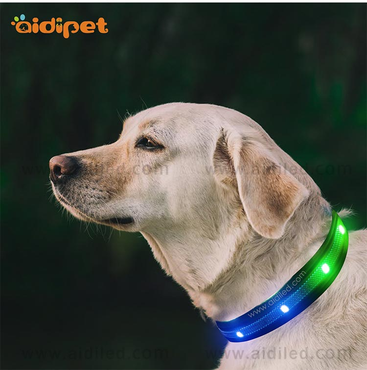 AIDI-C27 Colorful Dog Collar Led Flashing Light-11
