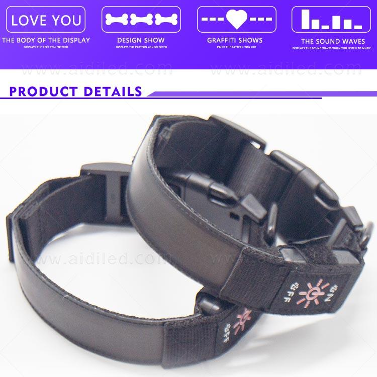 AIDI safety flashing dog collar supplier for pet
