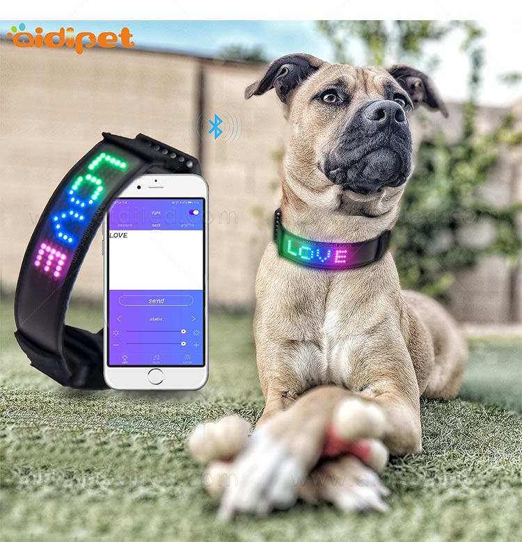 AIDI-Flashing Dog Collar Light Led App Controlled Safety Dog Collars-8