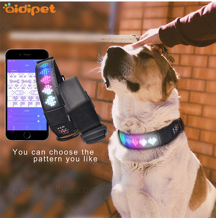 AIDI-Flashing Dog Collar Light Led App Controlled Safety Dog Collars-9