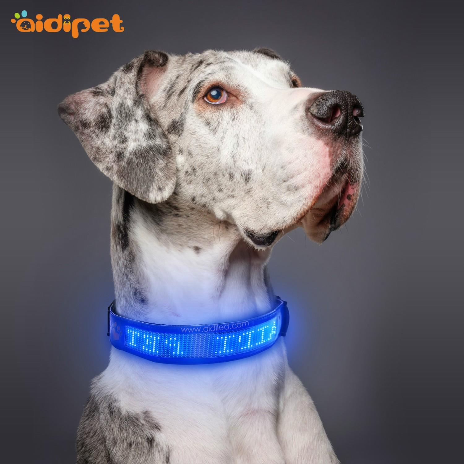 AIDI rechargeable lightning dog collar design for outdoors